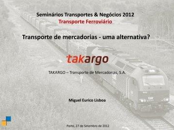 Transporte de mercadorias - uma alternativa? - Transportes ...