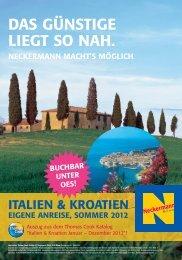 Italien Kroatien Folder Sommer 2012 - Neckermannreisen-urlaub.at