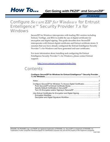 How to Configure SecureZIP with Entrust - PKWare