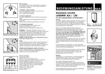 Luminaire-automatique LUXOMAT AL4 / 130 - Swisslux AG