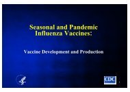 Seasonal and Pandemic Influenza Vaccines: Vaccine Development ...