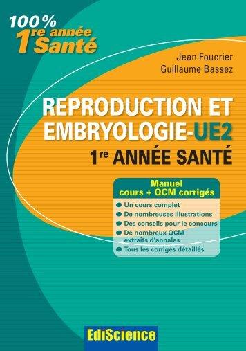 REPRODUCTION ET EMBRYOLOGIE-UE2 - Dunod