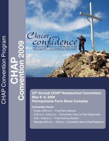 23rd Annual CHAP Homeschool Convention May 8 - Christian ...