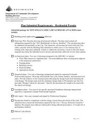 Plan Submittal Requirements – Residential Permits - City of ...