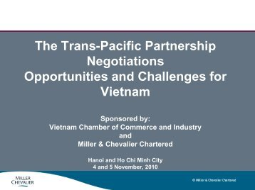 The Trans-Pacific Partnership Negotiations Opportunities and ...