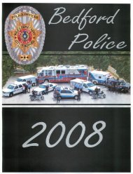 2008_Annual Report.pdf - the Bedford, Texas Police Department's ...