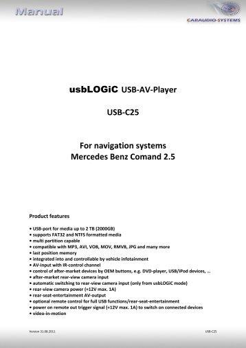USB-AV-Player USB-C25 For navigation ... - VAG NAVISYSTEMS