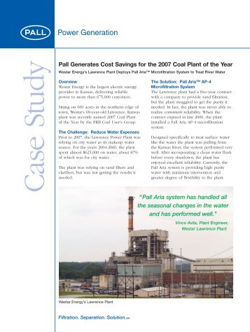 PGLPCSEN - Lawrence Plant Case Study - Pall Corporation