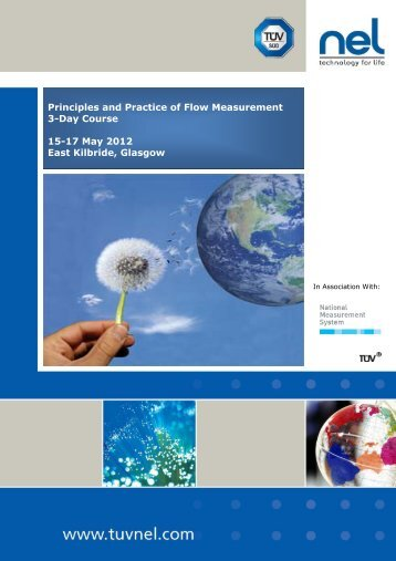 Principles and Practice of Flow Measurement 3-Day ... - TUV NEL