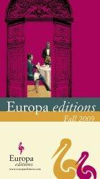 Fall 2009 catalog (PDF 481 Kb) - Europa Editions