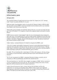 HM Revenue & Customs Press Release - Frank-CS.org