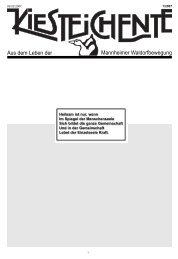 Kiesteichente Oktober. 2004-3 - Freie Waldorfschule Mannheim