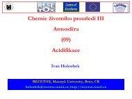 Acidifikace - Centrum pro výzkum toxických látek v prostředí