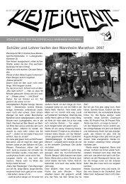 Schüler und Lehrer laufen den Mannheim Marathon 2007