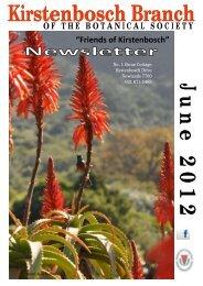 Kirstenbosch Branch Newsletter June 2012 - Botanical Society of ...