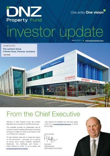 DNZ Investor Update March 2011 - DNZ Property Fund