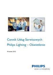 Pobierz cennik uslug - Philips Lighting Poland