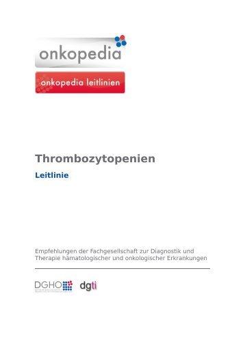 Thrombozytopenien - Onkopedia