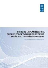 guide de la planification, du suivi et de l'évaluation axés sur les ...