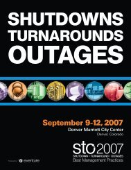 September 9-12, 2007 - Shutdowns - Turnarounds - Outages - STO ...
