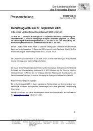 Pressemitteilung - Wahlen - Bayern