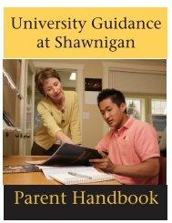 Parent Handbook - Shawnigan Lake School