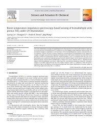 Room temperature impedance spectroscopy-based sensing of ...