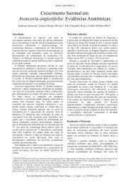 Crescimento Sazonal em Araucaria angustifolia - Ecologia ...