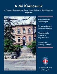 A Mi Kórházunk: 2001. április ( III/2) - Szent János Kórház