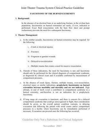 Fasciotomy of the Burned Extremity.pdf - U.S. Army