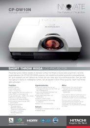 Folder Hitachi CP-DW10N - Brink Techniek
