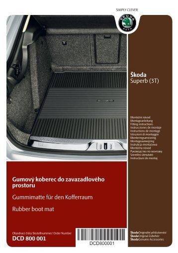 Škoda Superb (3T) Gumový koberec do zavazadlového prostoru ...