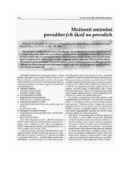 Kovář, P., Sklenička, P. 2003. Možnosti zmírnění povodňových škod ...