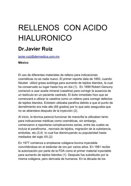 Rellenos acido hialuronico - Antonio Rondón Lugo