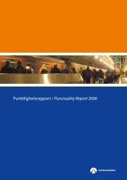 Punktlighetsrapport / Punctuality Report 2006 - Jernbaneverket