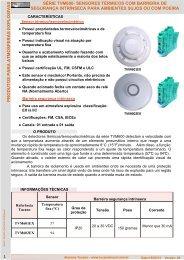 sensores térmicos com barreira de segurança ... - Alarmes Tucano