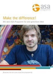 Make the difference! - ASA-Programm