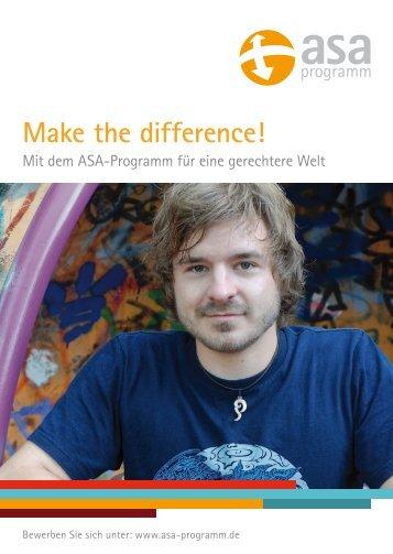 Make the difference! - ASA-Programm