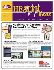 August 2001 - McCrone Healthbeat