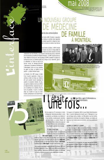 Mai 2008 - CSSS de Bordeaux-Cartierville - Saint-Laurent