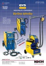 Izšel je GYS katalog Varilna tehnika - Koch