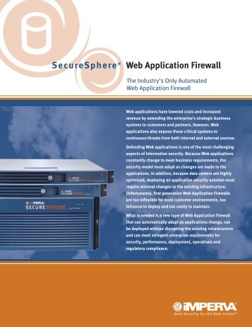 SecureSphere® Web Application Firewall