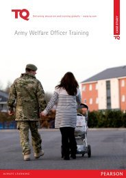 Army Welfare Officer Training - TQ Education and Training