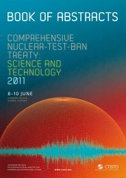 Book of Abstracts - Comprehensive Nuclear-Test-Ban Treaty ...