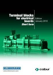 Terminal blocks for electrical boards / Short form - Klinkmann.