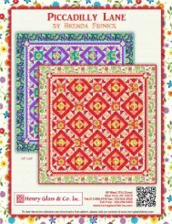 Piccadilly Lane Quilt pattern