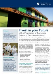Food Manufacturing Foundation (PDF) - University of Lincoln