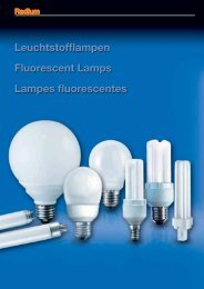 Leuchtstofflampen Fluorescent Lamps Lampes ... - lampia AB