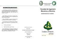 Facultad de Ingeniería Mecánica y Eléctrica - Universidad ...