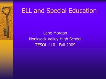 ELL and Special Education